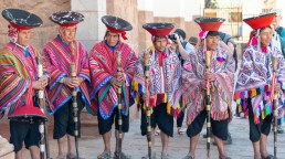 Local Elders at Church in Pisac Sacred Valley Peru