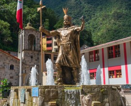 Machu Picchu Pueblo or Aguas Calientes Town Centre