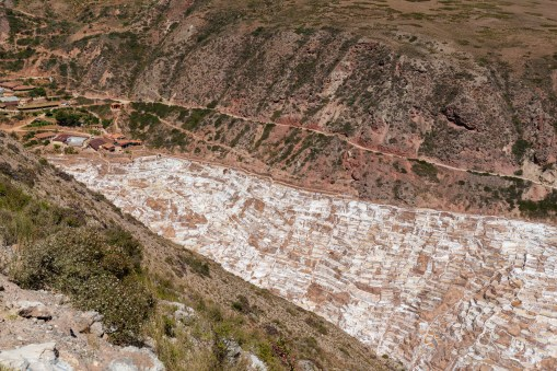 Salt pans of Maras Sacred Valley Peru