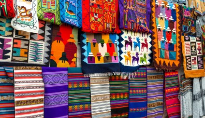 Pisac Market_Colourful Textile_2