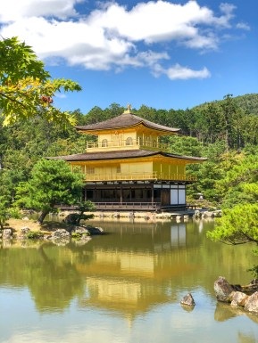 Kinkaku-ji, officially named Rokuon-ji, is a Zen Buddhist temple in Kyoto