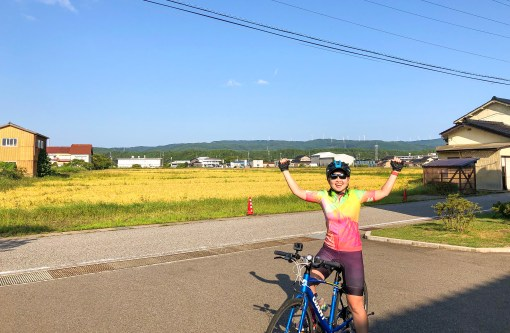 Start of day 8 Cycle Japan – Suzu to Anamizu
