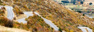 New Zealand South Island Queenstown Roads Autumn Autumnal Colors Fall