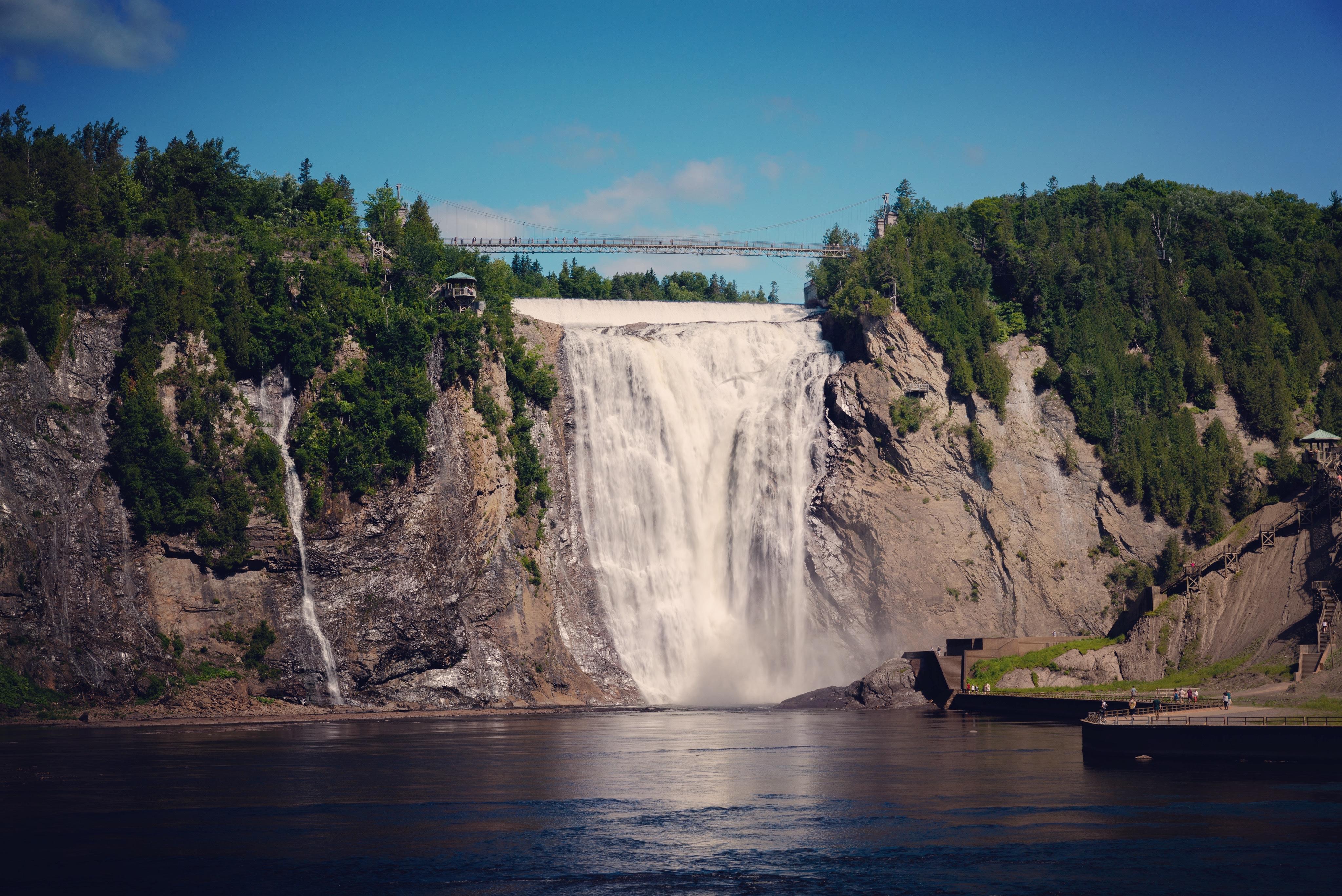 North America; Canada; Québec; Québec City; Montmorency Falls; Landscape; Waterfall; Nikon D800