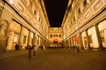 Uffizi Gallery at night