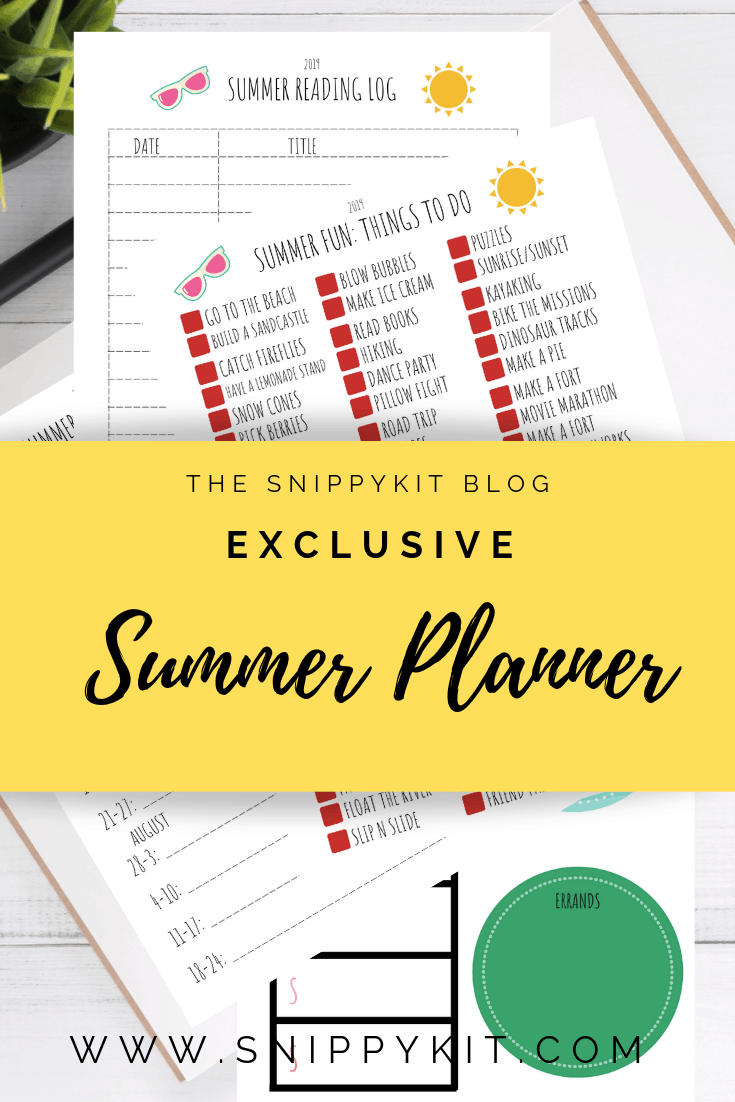 Check out this FREE Summer planner. There are 4 sections for you to organize and plan your summer activities with the kids.