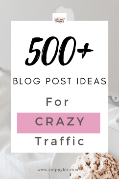 Running low on blog post ideas? have writers block? stress NO MORE! check out my latest blog post where I give you guys over 500 blog post ideas for any and EVERY blog niche!