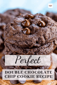 Gooey Double Chocolate Chip Cookie Recipe