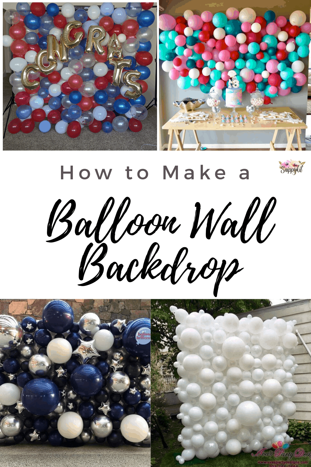 Need a good party of photo backdrop wall? This quick easy DIY balloon wall makes for a great easy option. Check out my tutorial and try it for yourself!