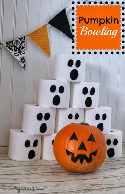 ghost and pumpkin bowling game for kids