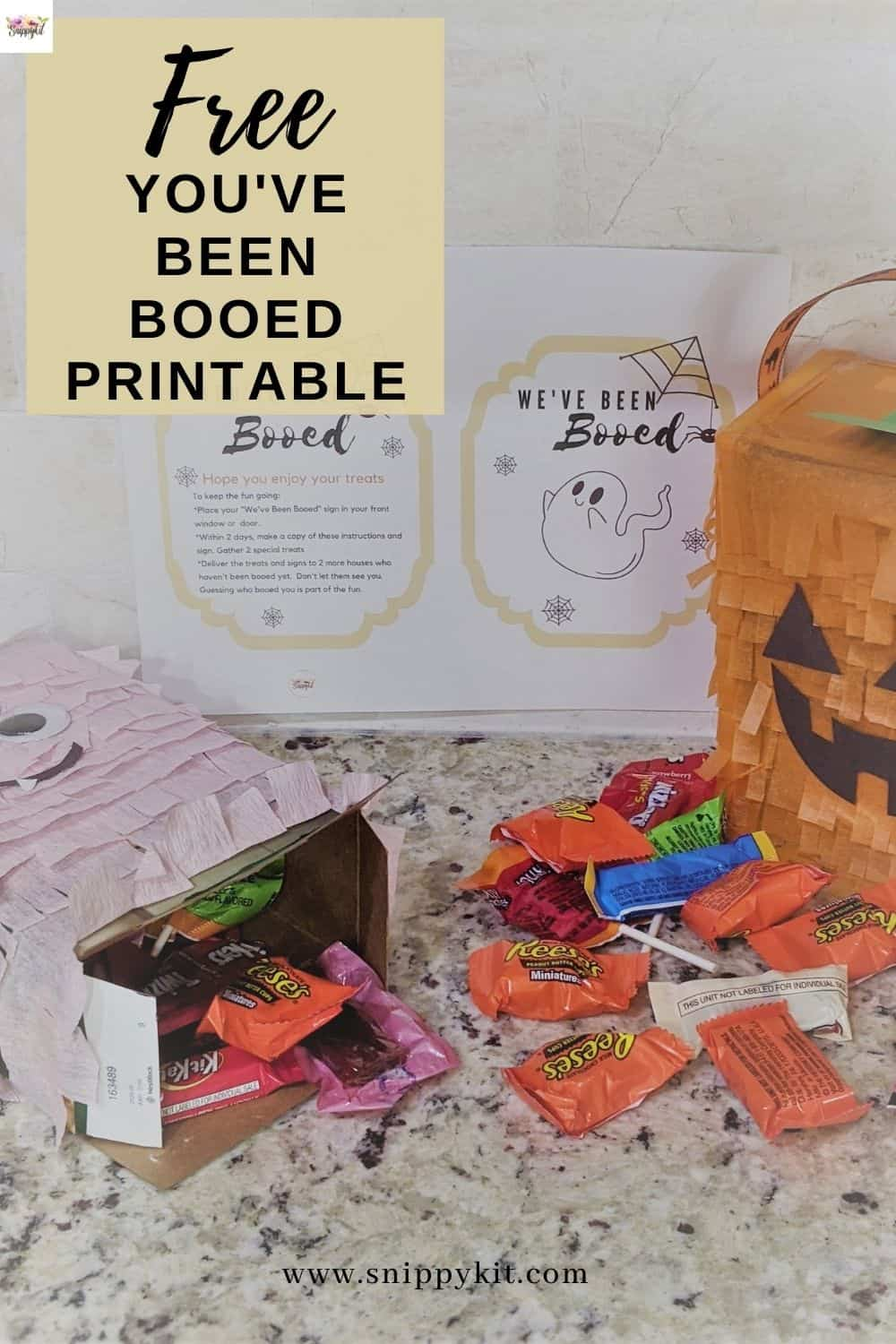 "Grab your favorite treats and get ready to surprise friends and neighbors with this fun You've Been Booed Halloween Family Activity. It's the perfect way to get kids of all ages involved in spreading light and joy during the Halloween season. Includes free printable ""Boo"" tags that are easy to print, pair with a few goodies and watch the Halloween cheer spread."