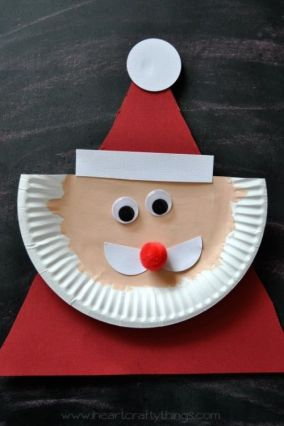 simple paper plate santa clause craft for kids