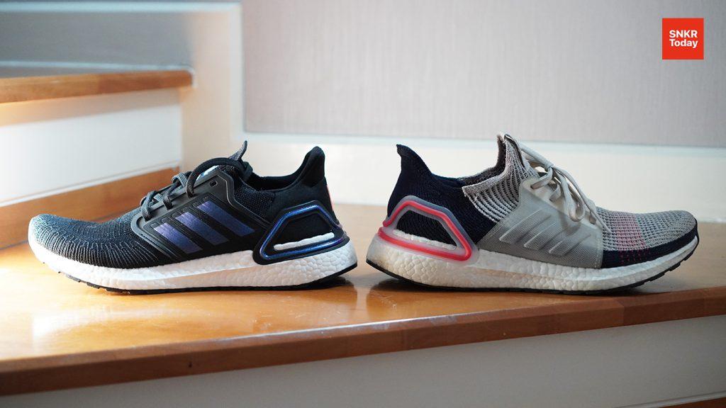เปรียบเทียบ adidas Ultraboost 19 กับ adidas Ultraboost 20