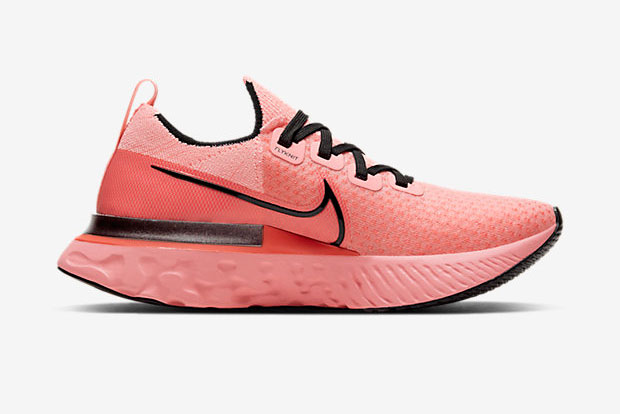 "Nike React Infinity Run ""Bright Melon"" สีส้มอมชมพู"