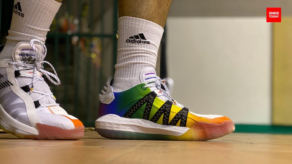 รีวิว รองเท้าบาส adidas DAME 6 Pride พื้น Lightstrike หนานุ่ม คล่องตัว