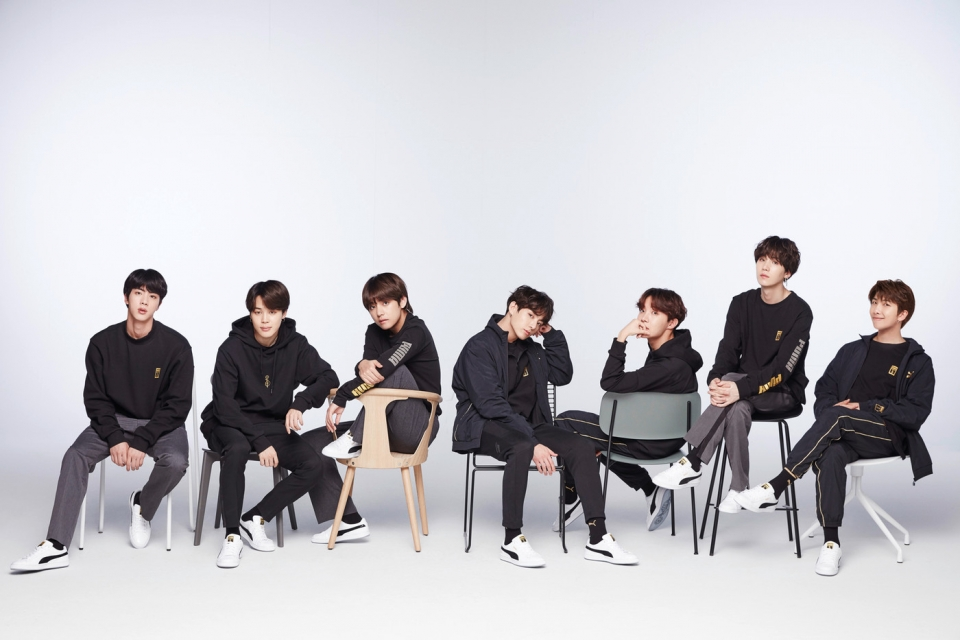 PUMA shook hands with BTS for the K-Pop line of basketball shoes