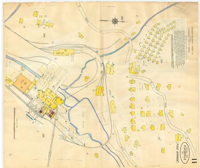 Pino Grande Fire Map Sandford 1910