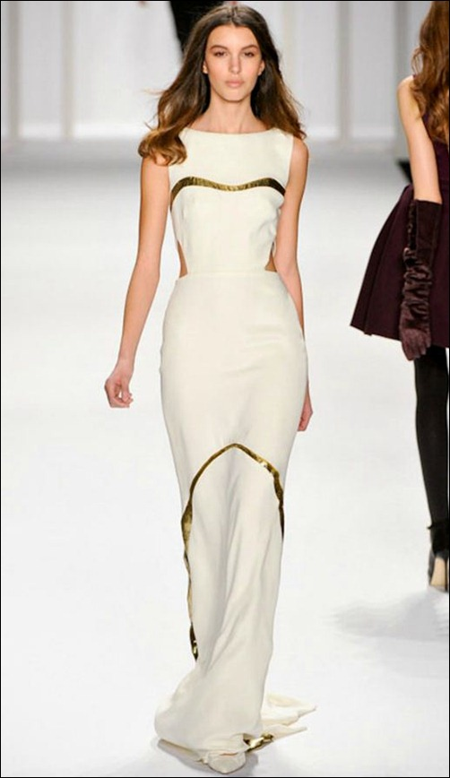 J Mendel white dress Fall 2012 RTW