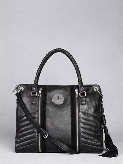 DKNY Runway Couture Biker Shopper bag