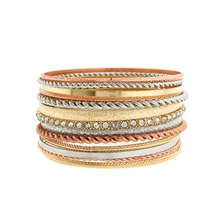 br 021 72 bangle 13pc gold rose gold silver lg