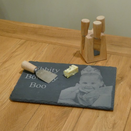 Photo engraved slate cheeseboard
