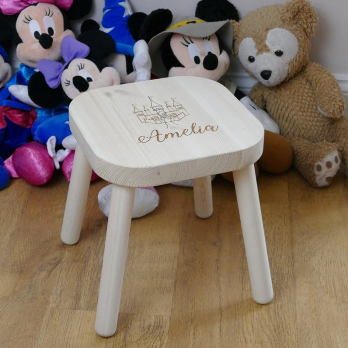 Personalised childrens stool with childs name