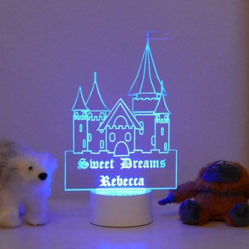 Personalised Princess Castle Night Light