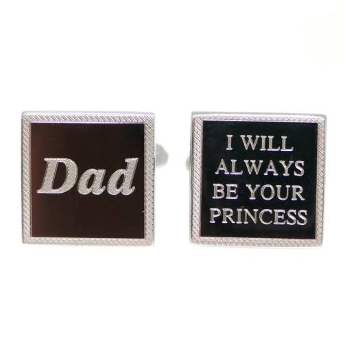 Personalised square cufflinks