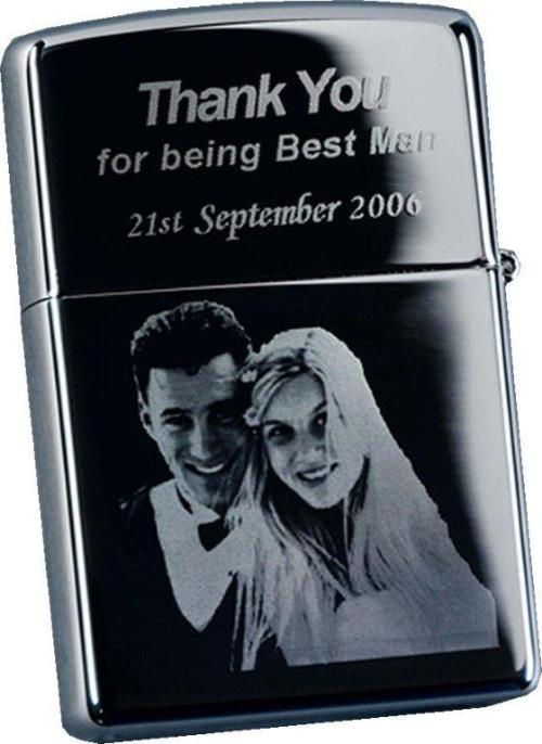 Photo engraved zippo style lighter