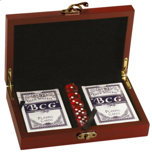 Personalised card/dice set