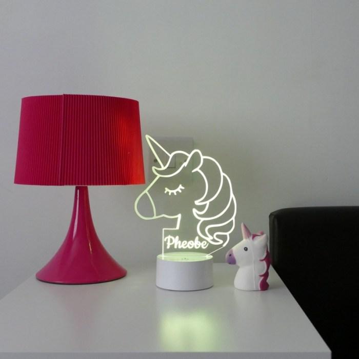 Colour changing unicorn night light
