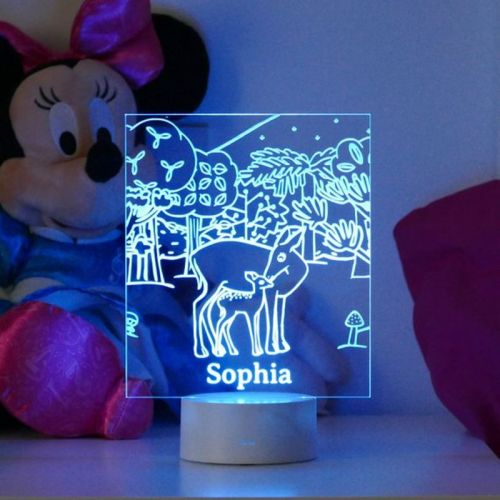 childrens woodland night light