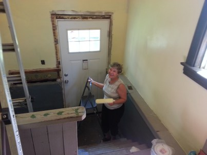 Mom Having fun painting - ha!
