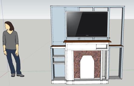 The SketchUp rendering