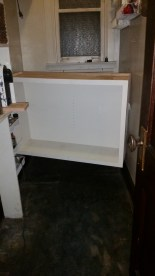 The new cabinet was a tight fit. Eek!