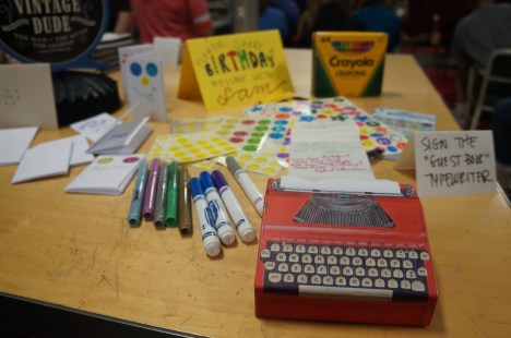 "The ""creativity corner"" (photo by LS)"