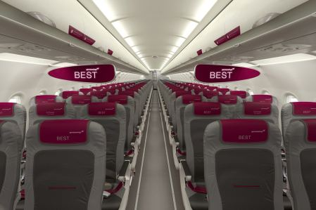 Kabine der neuen Germanwings