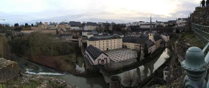 Blick in die Unterstadt Luxembourgs
