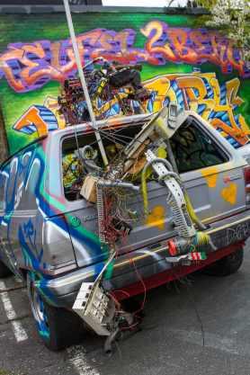 Berlin - Teufelsberg, Ort des Graffiti- und Fotoworkshops