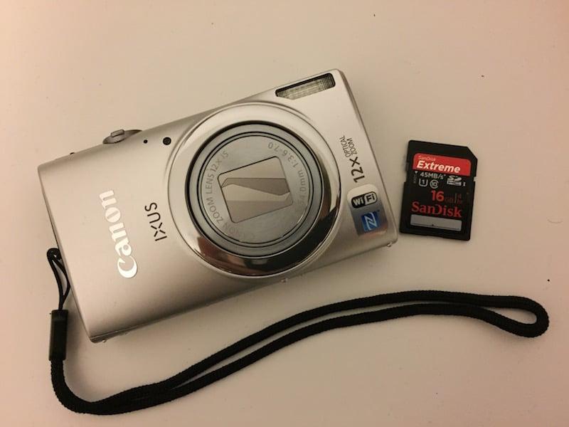 Canon IXUS 265 HS in silber