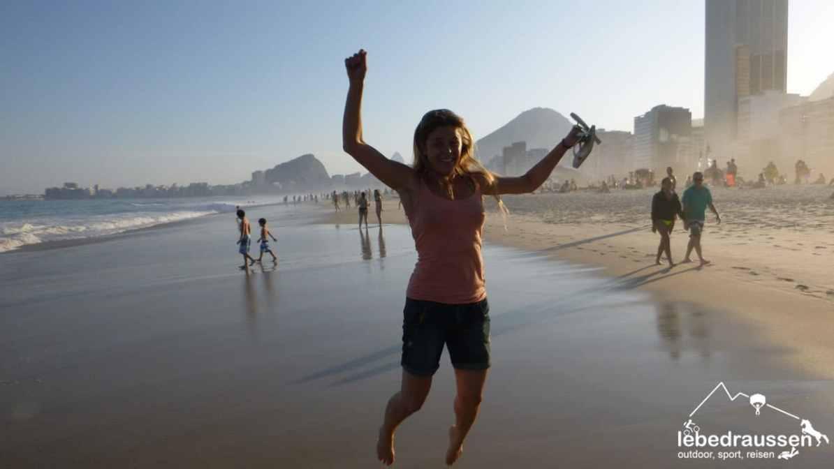 Bianca in Rio an der Copacabana, Brasilien