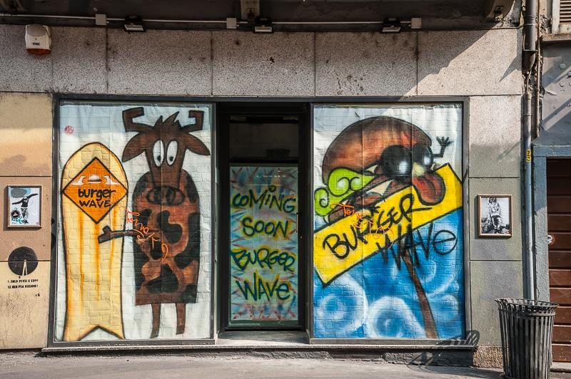 Mailand Streetart Burger Wave