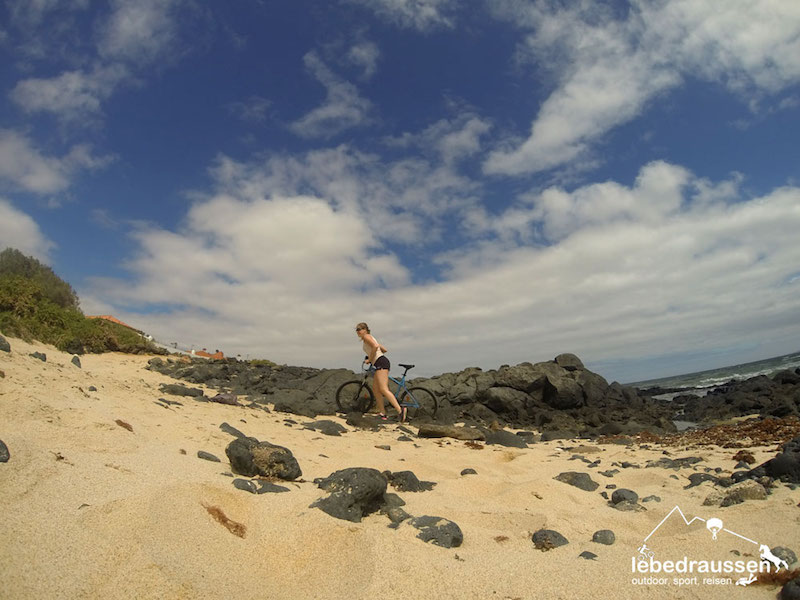 Biken am Strand Fuerteventura
