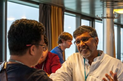 Friedensnobelpreisträger Kailash Satyarthi auf Nobelpreisträgerfahrt