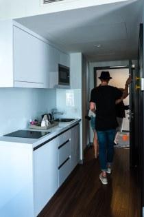 Kitchenette im Studio Apartment
