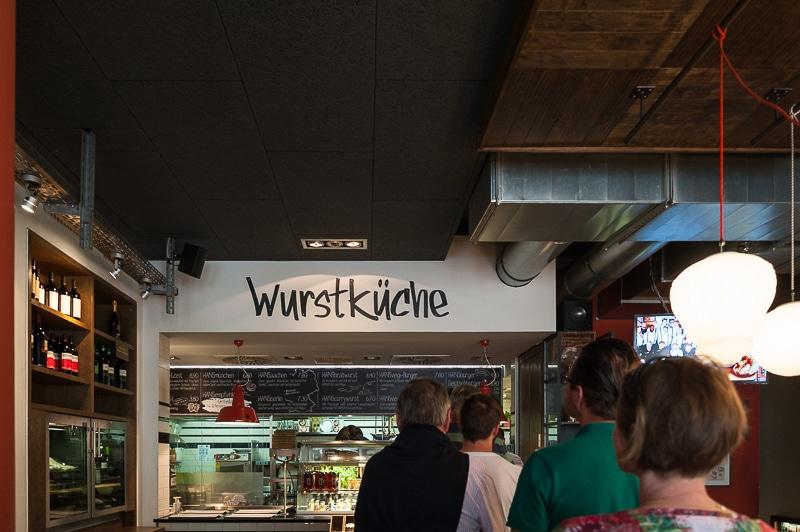 Wurstküche beim Hanswurst