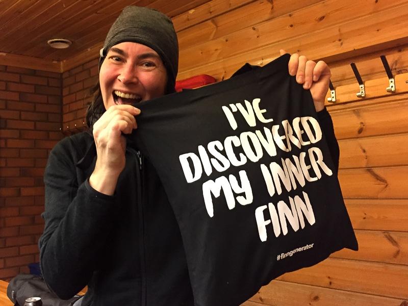 Journalistin Birgit hat ihren inneren Finnen bei einer Sauna gefunden