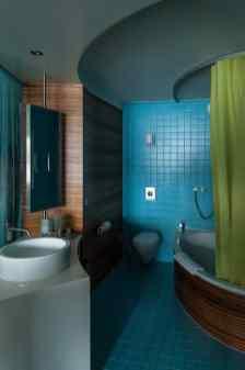 """Badezimmer im Haus """"Elements"""", Seerose."""