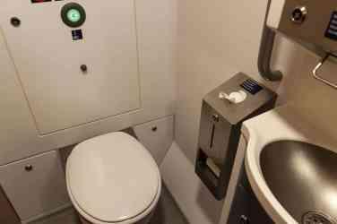 Neugestaltetes WC im ICE4