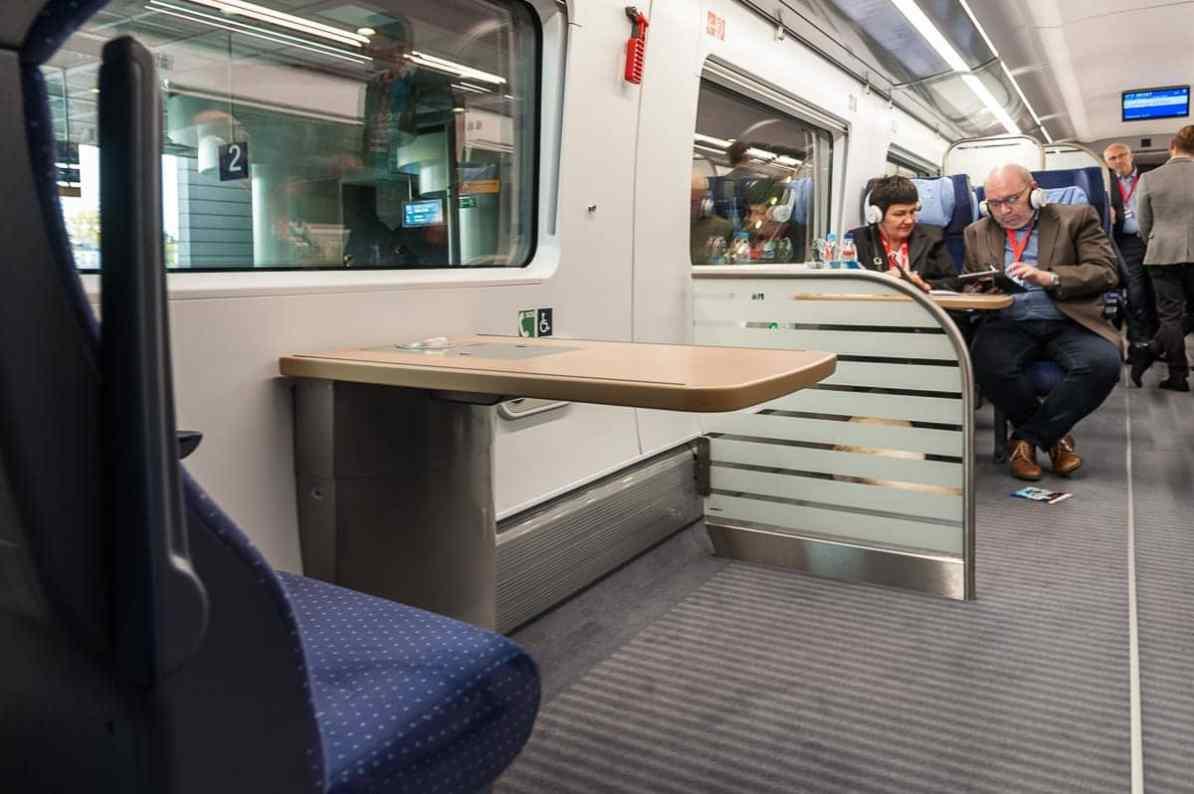 Rollstuhlbereich in Wagen 9